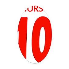 Hurst 10 Red Oval Car Magnet