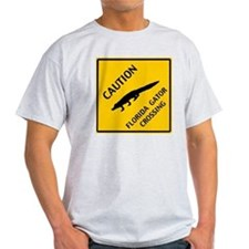 Caution Florida Gator Crossing T-Shirt