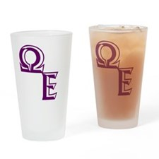 Outline QE Drinking Glass