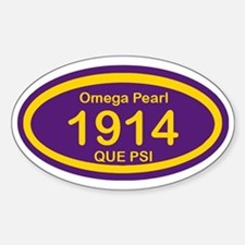 Omega Pearl 1914 Oval Sticker (Oval)