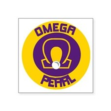 "Omega Pearl Oval Square Sticker 3"" x 3"""