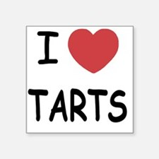 "I heart tarts Square Sticker 3"" x 3"""