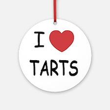 I heart tarts Round Ornament