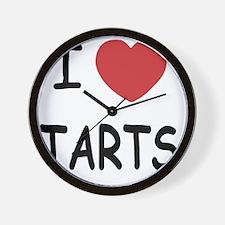 I heart tarts Wall Clock