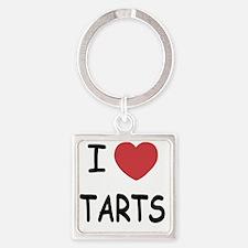 I heart tarts Square Keychain