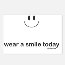 wear a smile today Postcards (Package of 8)