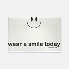 wear a smile today Rectangle Magnet