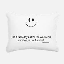 first 5 days Rectangular Canvas Pillow