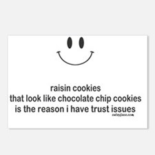 raisin cookies Postcards (Package of 8)
