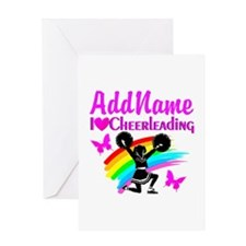 LOVE CHEERING Greeting Card