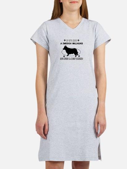Swedish vallhund designs Women's Nightshirt