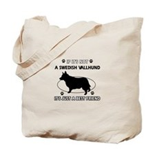 Swedish vallhund designs Tote Bag