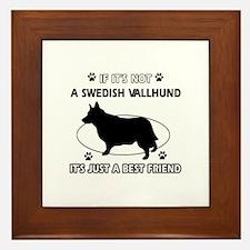 Swedish vallhund designs Framed Tile