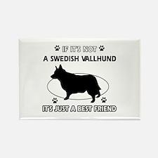 Swedish vallhund designs Rectangle Magnet