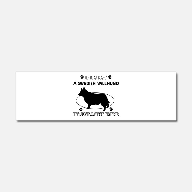 Swedish vallhund designs Car Magnet 10 x 3