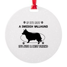 Swedish vallhund designs Ornament