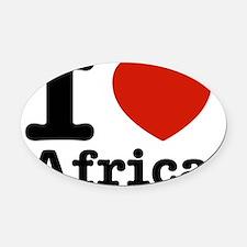 I love Africa Oval Car Magnet