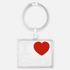 I love cows Landscape Keychain