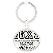 26XS - TATUM RANCH AIRPORT - BLANCO  Oval Keychain