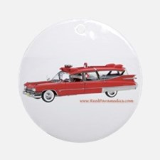 Old Red Ambulance Ornament (Round)