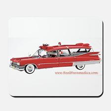 Old Red Ambulance Mousepad