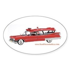 Old Red Ambulance Oval Decal