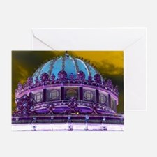 Carousel Purple Haze Greeting Card