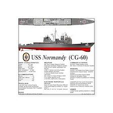 "USS Normandy CG-60 Square Sticker 3"" x 3"""