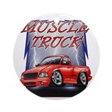 Ford lightning Round Ornaments