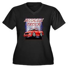 Red G@ Light Women's Plus Size Dark V-Neck T-Shirt