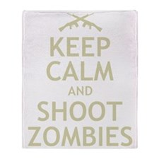 Keep Calm and Shoot Zombies Throw Blanket