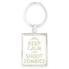 Keep Calm and Shoot Zombies Portrait Keychain