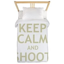 Keep Calm and Shoot Zombies Twin Duvet