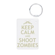 Keep Calm and Shoot Zombie Keychains