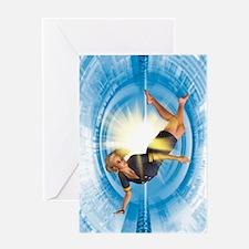 Zero gravity, artwork Greeting Card