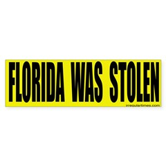 Florida Was Stolen Bumper Bumper Sticker