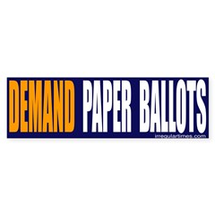 Paper Ballots Bumper Bumper Sticker