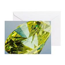 Yellow diamond Greeting Card