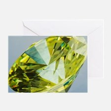 Yellow diamond Greeting Card