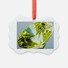 Yellow diamond Ornament