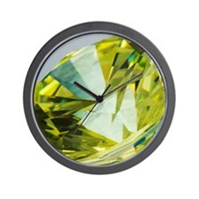 Yellow diamond Wall Clock