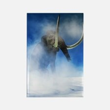Woolly mammoth, artwork Rectangle Magnet