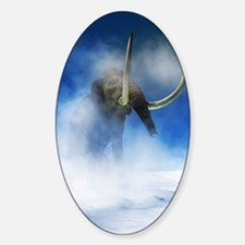 Woolly mammoth, artwork Sticker (Oval)