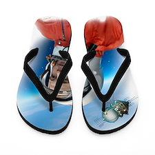 Yuri Gagarin, Soviet cosmonaut, artwork Flip Flops