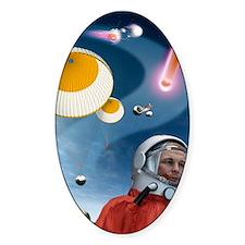 Yuri Gagarin's landing, artwork Decal