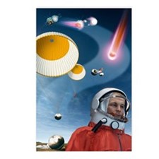 Yuri Gagarin's landing, a Postcards (Package of 8)