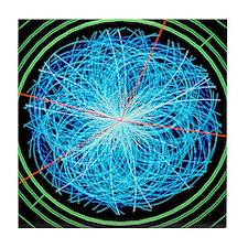 Simulation of Higgs boson production Tile Coaster