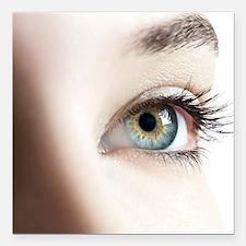 """Woman's eye Square Car Magnet 3"""" x 3"""""""
