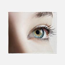 Woman's eye Throw Blanket