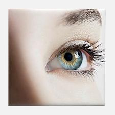 Woman's eye Tile Coaster